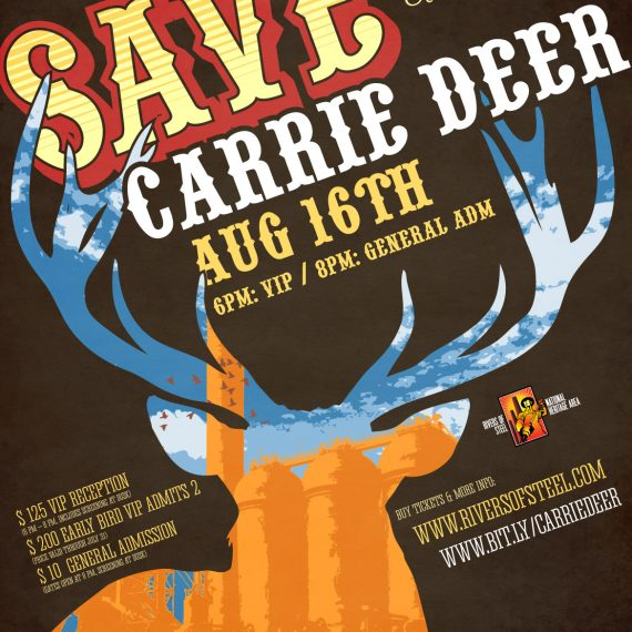 Save the Carrie Deer poster and print ad design