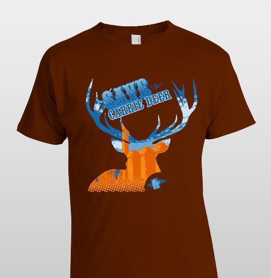 Save the Carrie Deer logo / screen printed t-shirt design and color separation