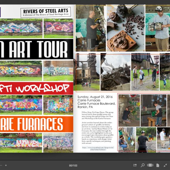 Social Butterfly Magazine highlighting the Urban Art Tours
