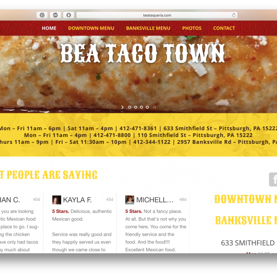 www.beataqueria.com - WordPress website design
