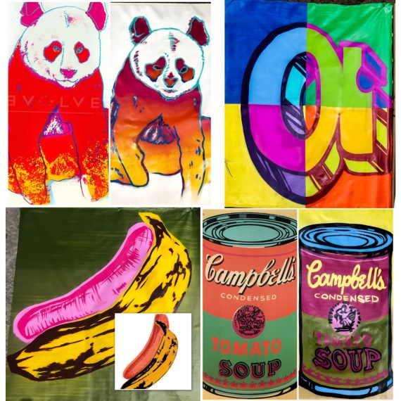 Andy Warhol canvases painted for a benefit auction