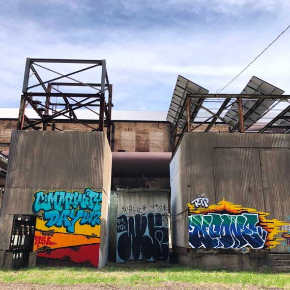 Community Day 2017 painting at Carrie Furnace