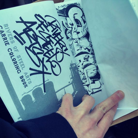 Rivers of Steel Urban Arts coloring books for kids