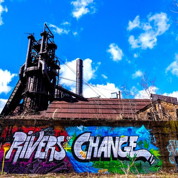 Rivers of Change used for marketing materials for the Society of Environmental Journalists conference at Carrie Furnace